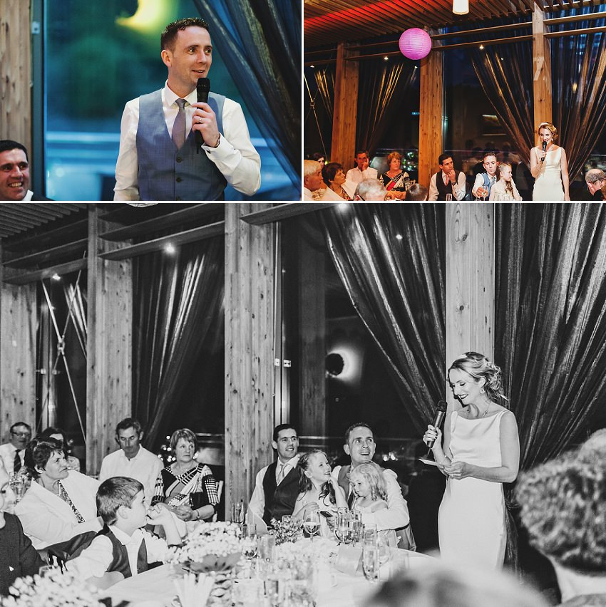 emotional speeches by bride and groom