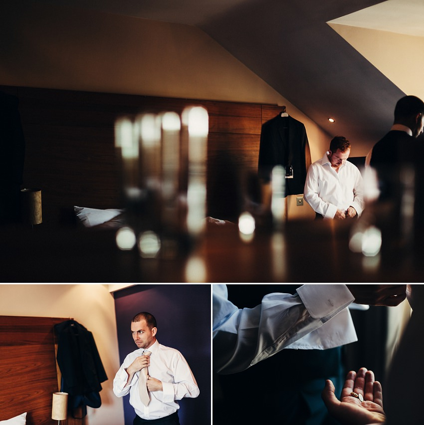 groom's getting ready in hotel Naas Kildare