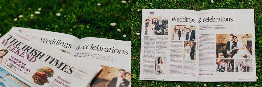 Published in Irish Times newspaper   Irish Castle wedding   Photographer Ireland 1