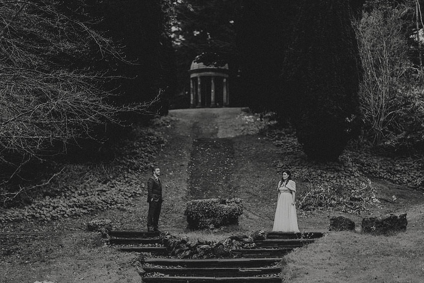 best wedding photo on the grounds of Dromoland Castle