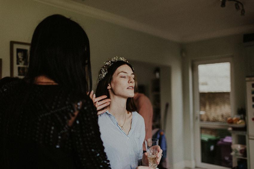 lynda is drinking champain