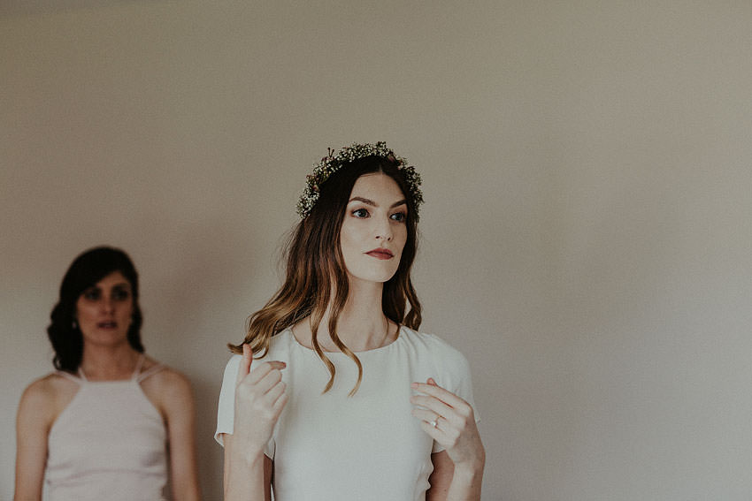professional model as a bride