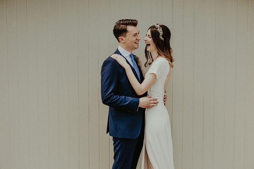 super happy couple during a portraits