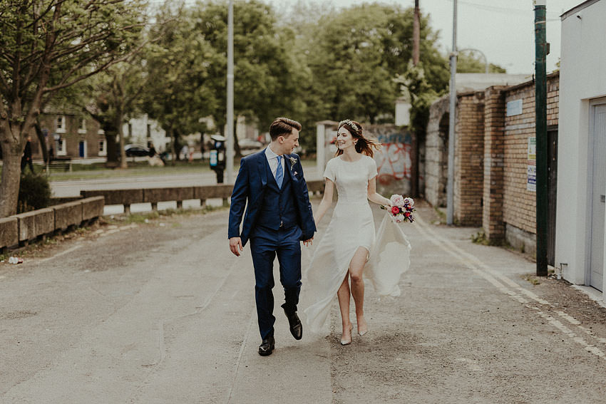 lovely dress and handsome couple