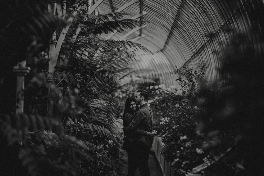 black and white engagement picture - photography in dublin - Alanna and Emmet enjoying time in ireland