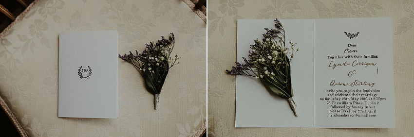 elegant and simple wedding invitation