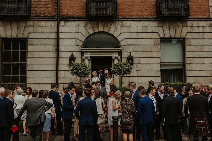 reception outside fitzwilliam place in Dublin