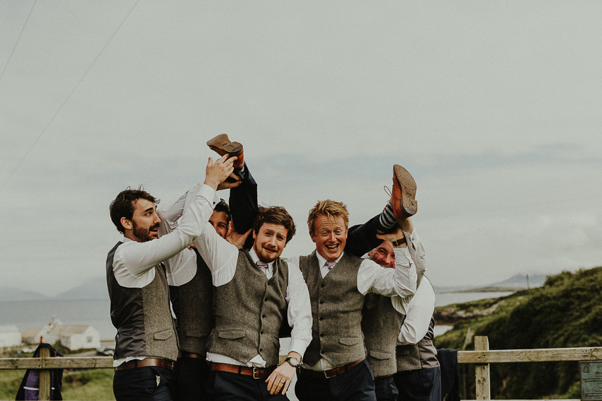 groom falling down on the ground, funny moments