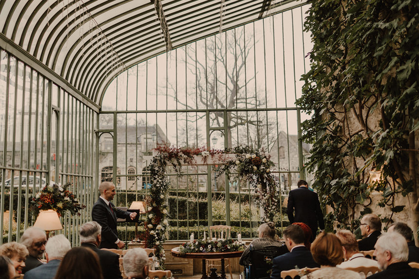A laidback and intimate winter wedding at The Cliff at Lyons 49