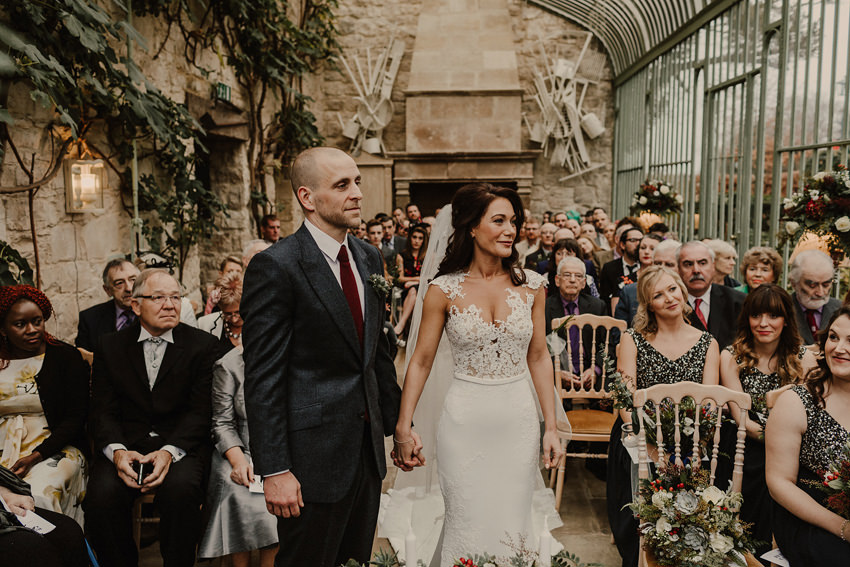 A laidback and intimate winter wedding at The Cliff at Lyons 55