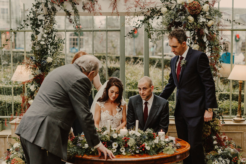 A laidback and intimate winter wedding at The Cliff at Lyons 63