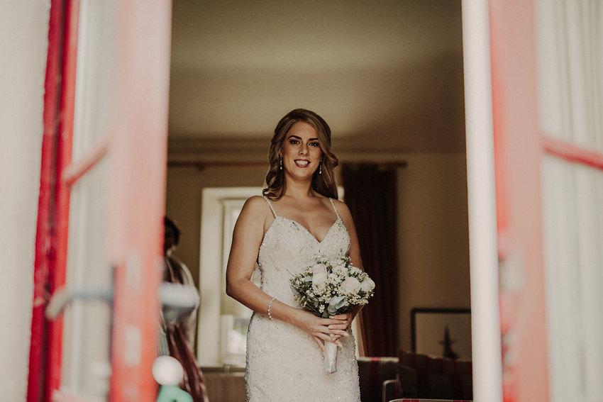 Bride portrait at the window