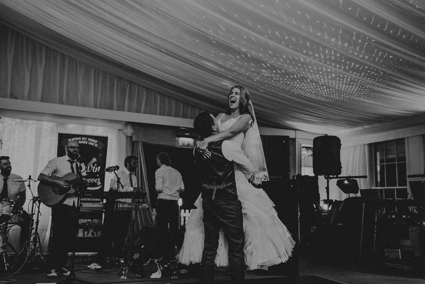 spectacular first dance - rachel jumping on Andrew