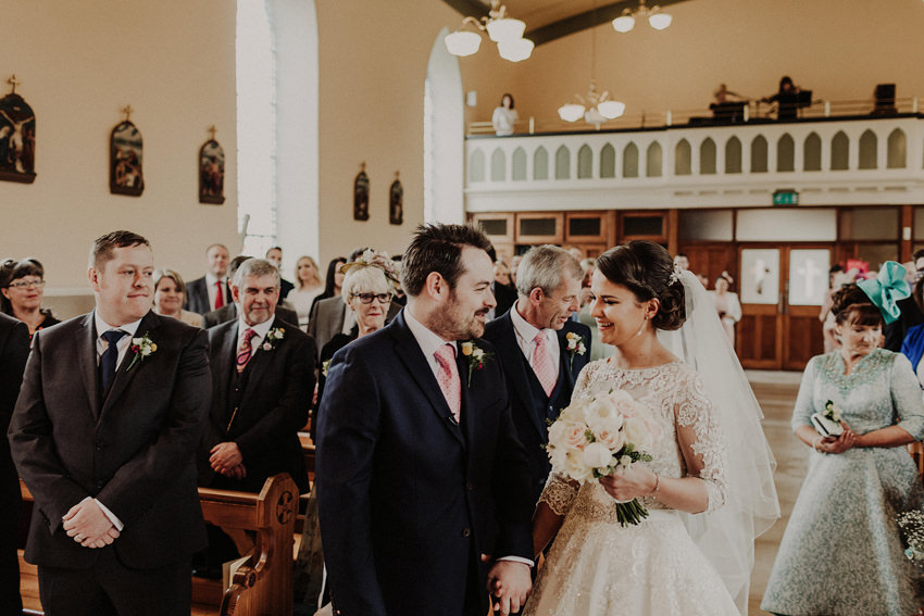 Paul is seeing his bride for the forst time in the church
