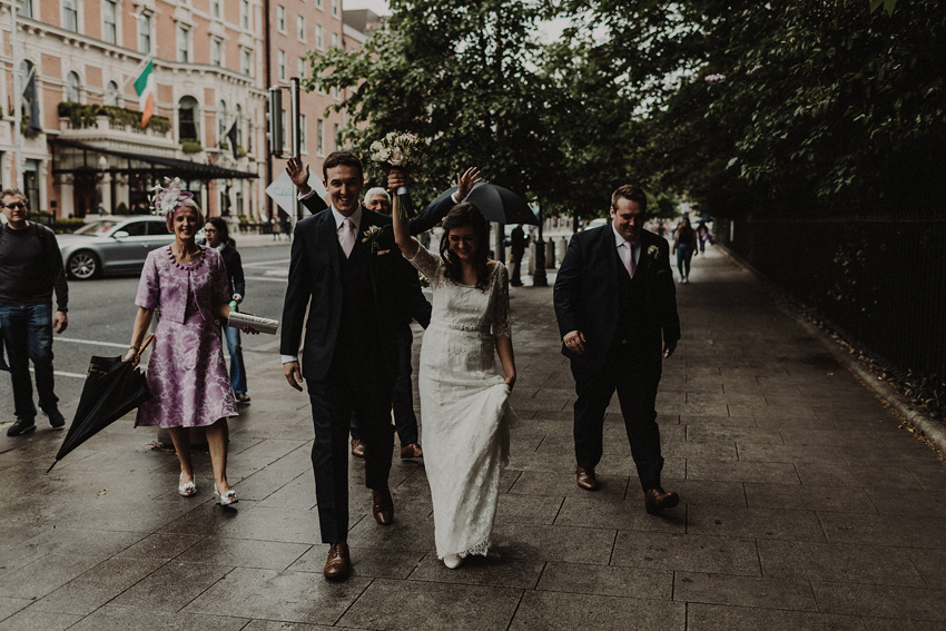 A small intimate wedding at The Shelbourne Hotel | Grainne & James 49
