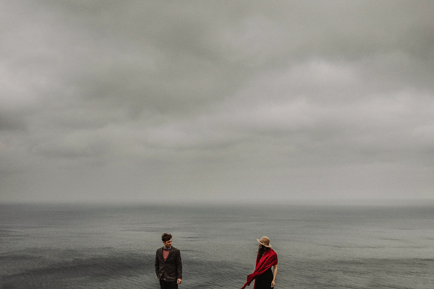 outstanding photo of Nile and Maggie on the edge of cliffs - featured on Rangefinder magazine website