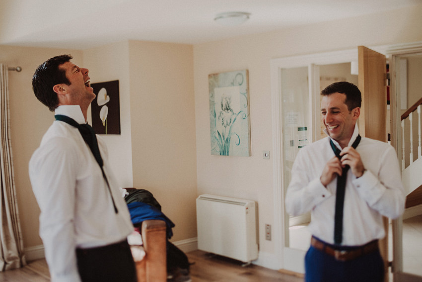 groom and bestman trying to do ties funny moment