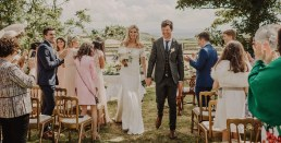 Summer wedding at Ballintaggart House with outdoor ceremony
