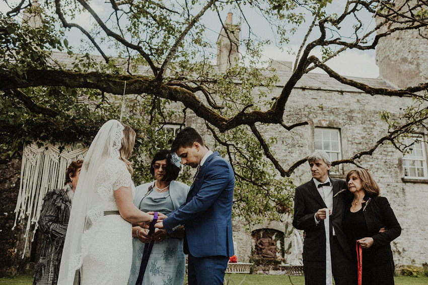 DIY outdoor wedding at Durhamstown Castle | Aisling & Javier 328