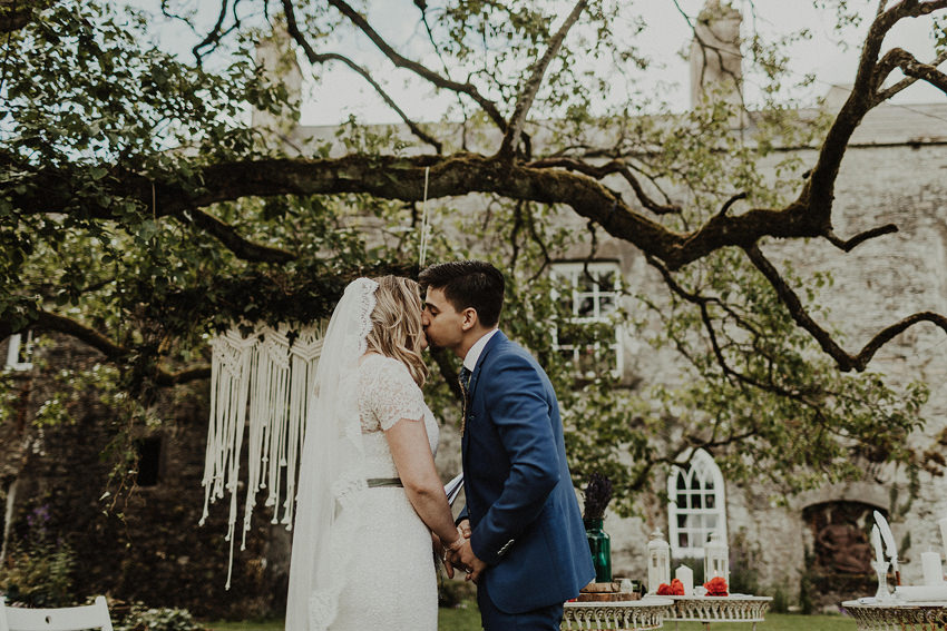 DIY outdoor wedding at Durhamstown Castle | Aisling & Javier 331