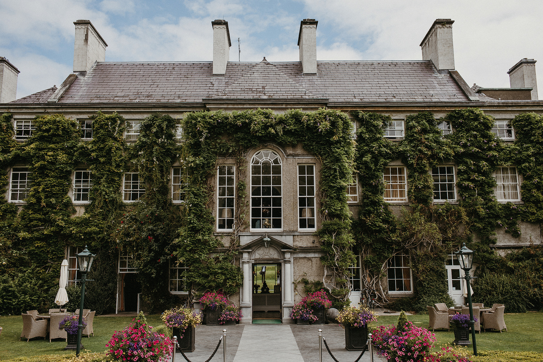 Mount juliet estate at summer destination elopement wedding in ireland