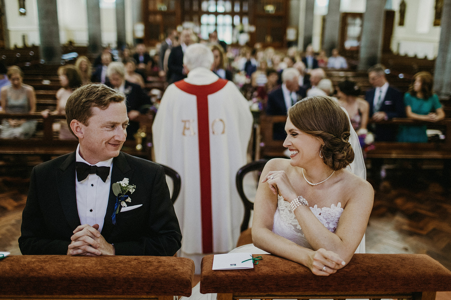 joyful moment after vows bride is smiling at groom mount juliet small intimate wedding